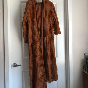 Burnt Orange Long Cardigan